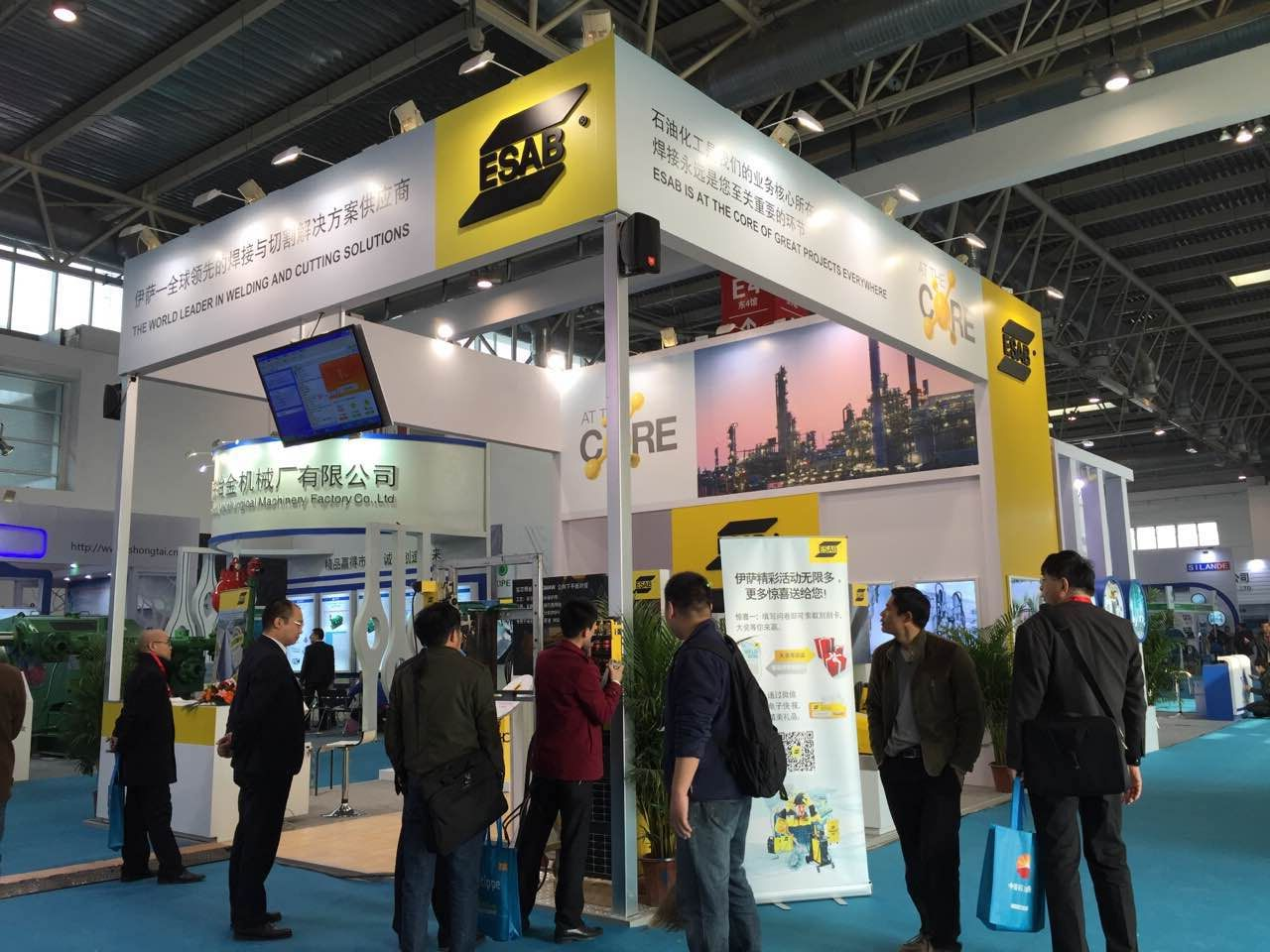 ESAB Booth Overview on CIPPE 2015